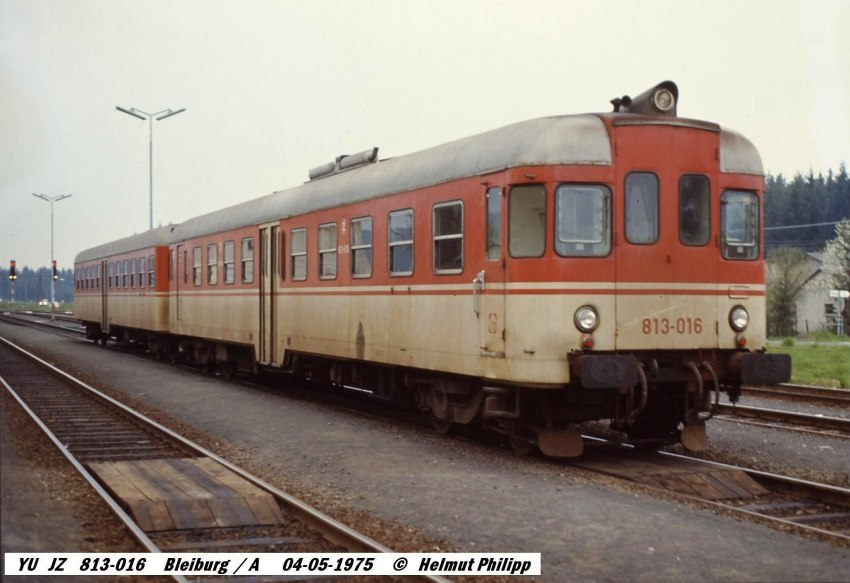 JŽ 813-016, 1975-05-04, Pliberk/Bleiburg (foto Helmut Philipp)